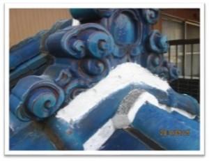 和瓦漆喰・ベランダ屋根パネル交換・屋根塗装工事‐横浜市
