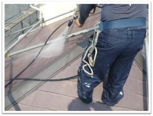 屋根塗装前高圧洗浄