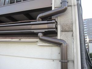 雨樋集水器接合部