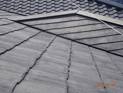 スレート屋根塗装前