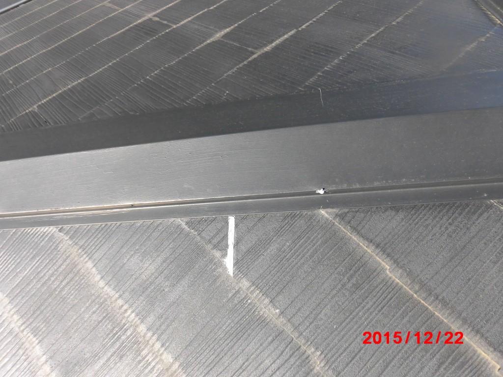 屋根材コーキング補修