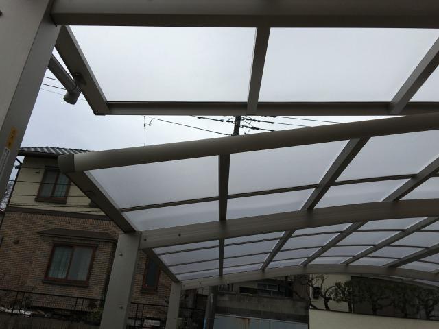 二つの屋根の重なり部分