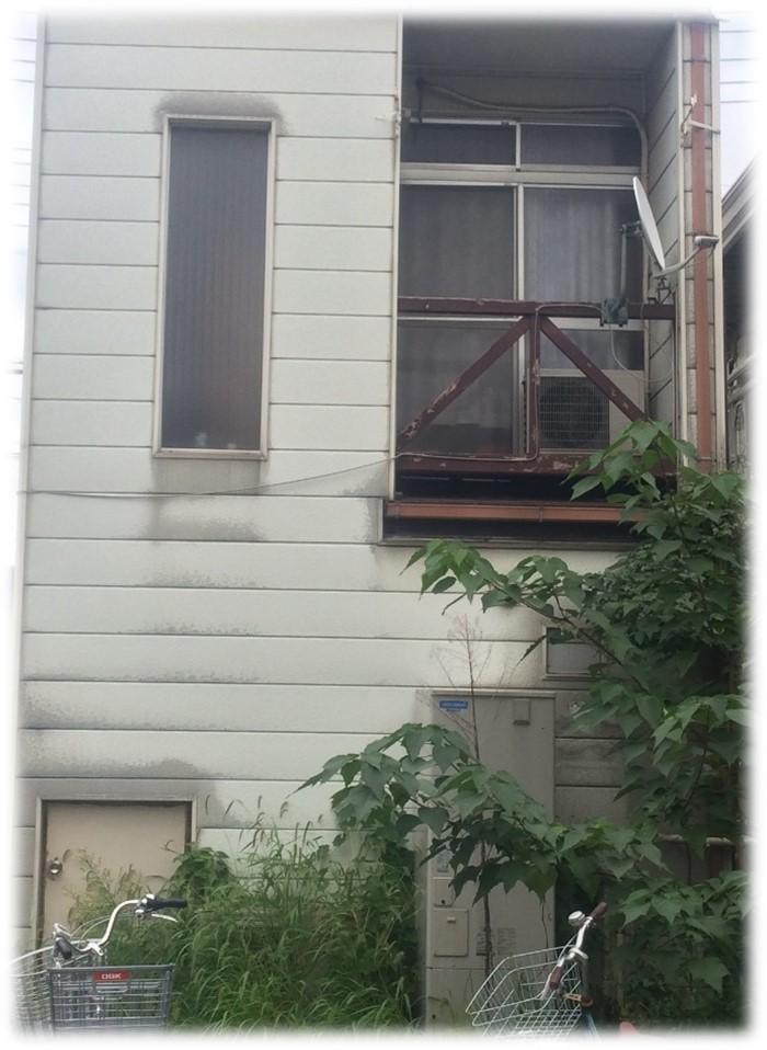 外壁西側塗装前