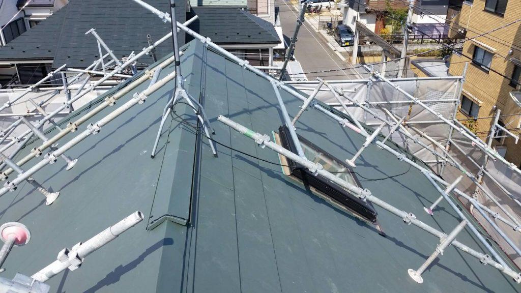 屋根棟板金施工後